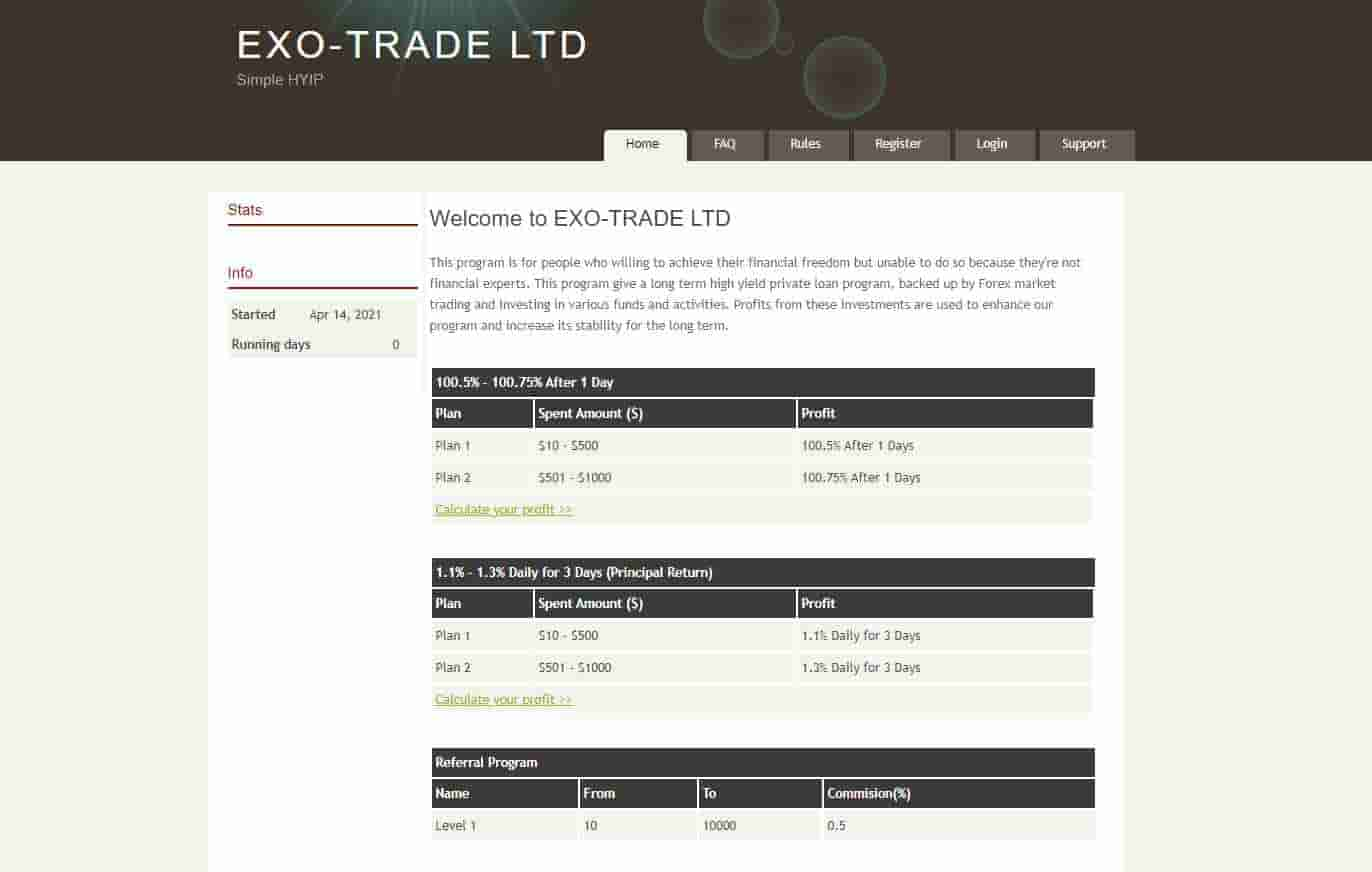 EXO-TRADE LTD