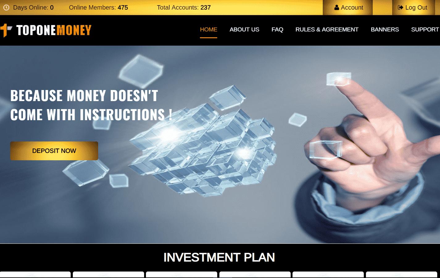 Top One Money - перевод проекта в СКАМ